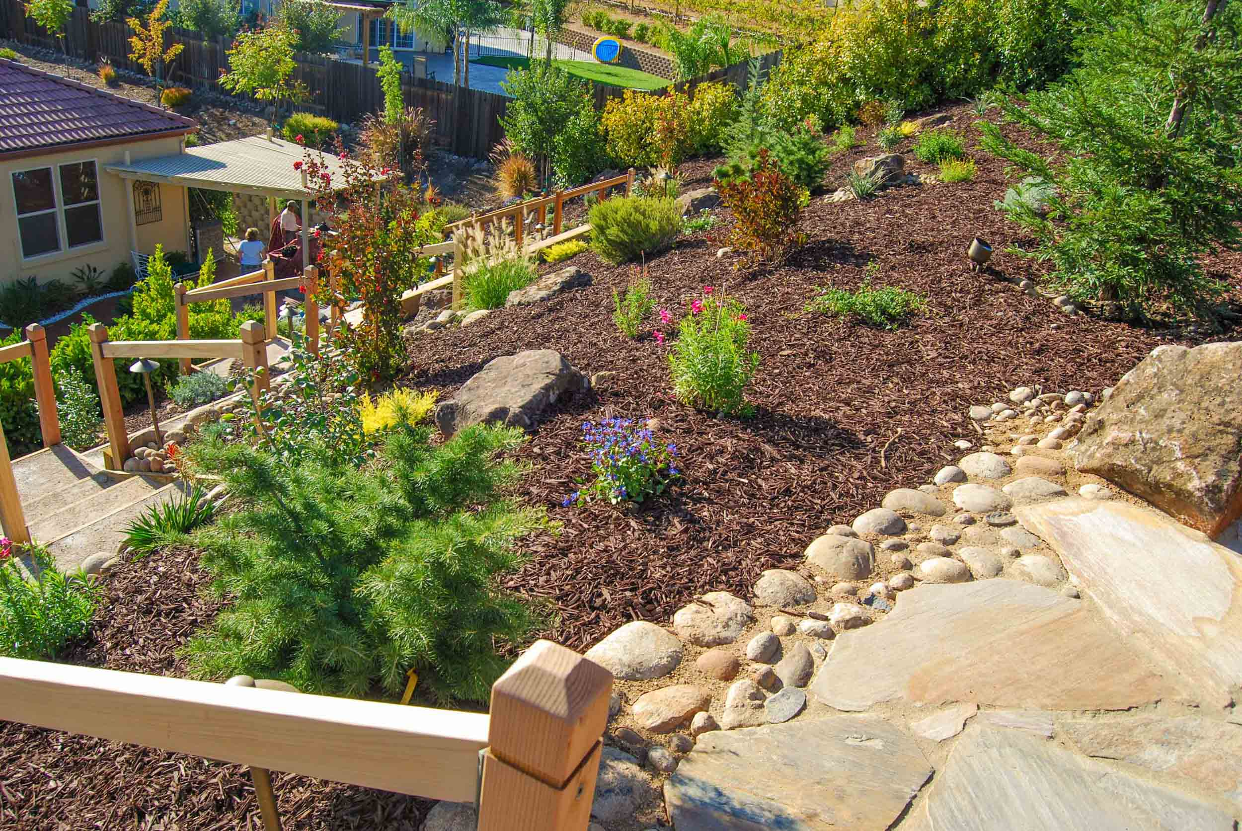 Terraced Backyard Slope Executive Care Inc